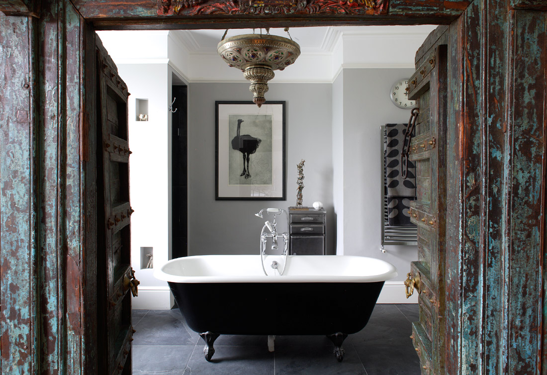 Vintage Black Painted Ball And Claw Foot Bathtubs