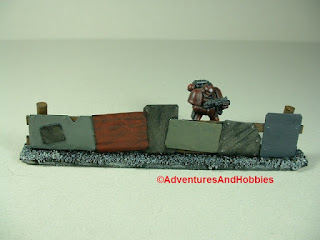 Urban 25-28mm war game terrain battlefield barricade made from scrap metal - close-up 1