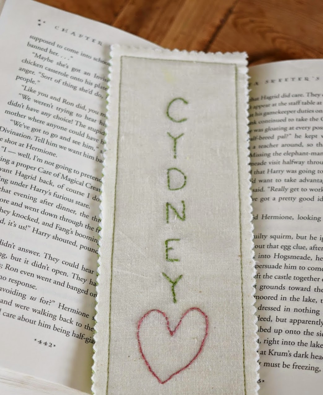 http://www.adventuresofadiymom.com/2015/01/fabric-embroidered-bookmarks.html