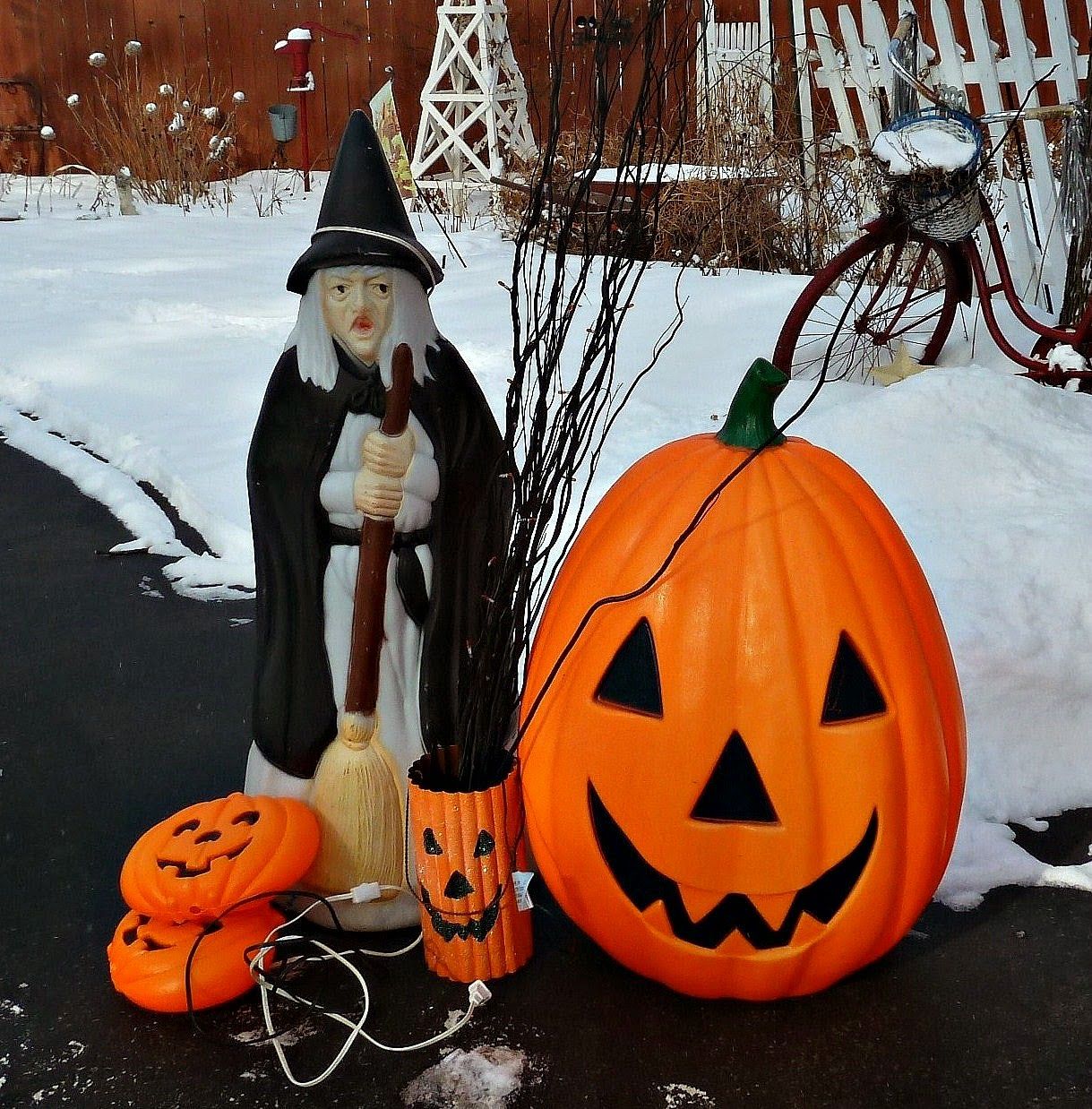 Vintage halloween decorations plastic - Old Glory Cottage