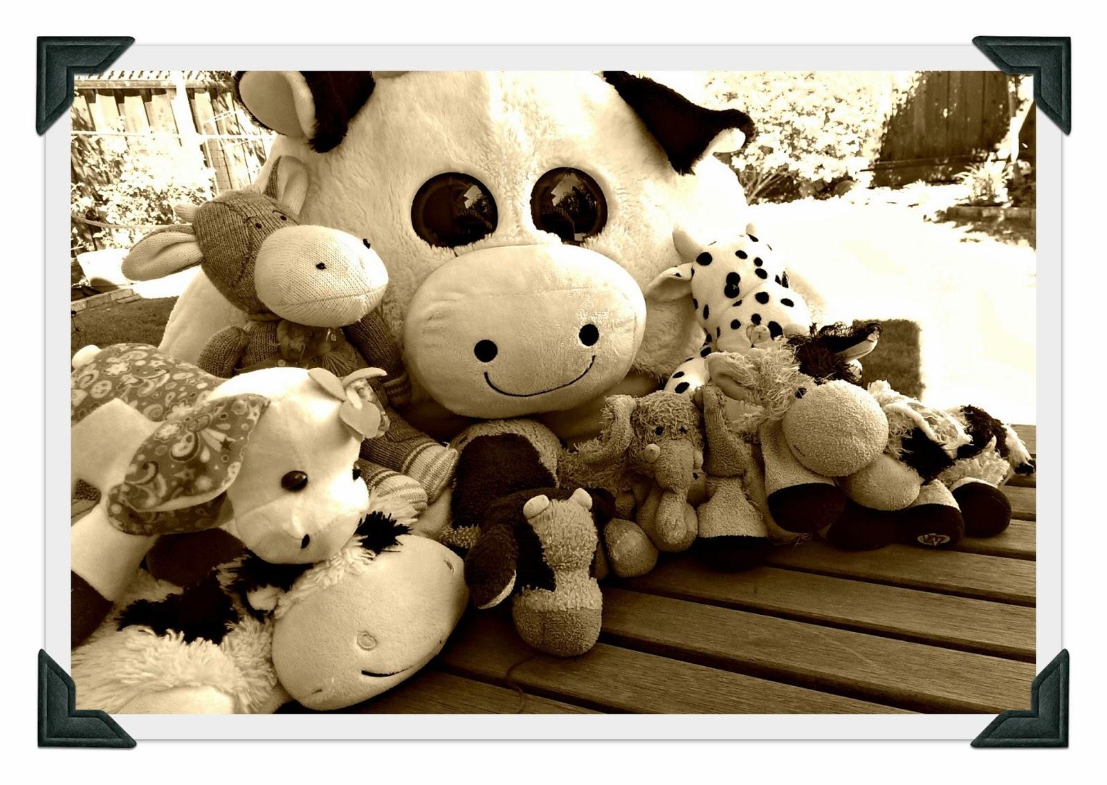 sepia Webkinz stuffed cows