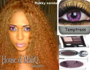 MAKEUP and BEAUTY - Rukky Sanda&#39;s New Sexual Look In Purple Big Eye Contact Lens..Hot Or Not?
