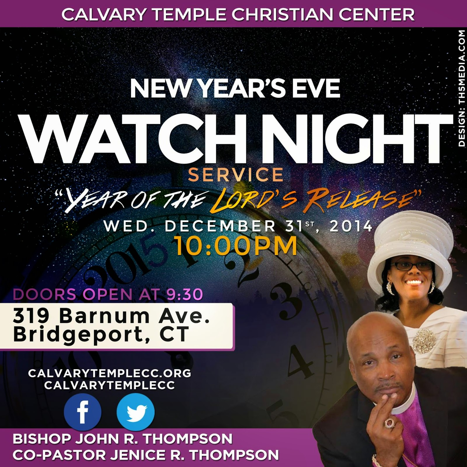 calvary temple christian center  new year s eve watch night service