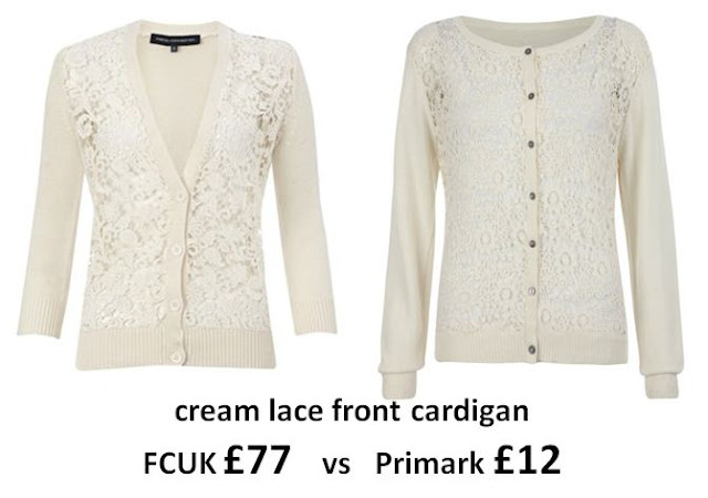 French Connection Primark Dupe Cream Lace Cardigan