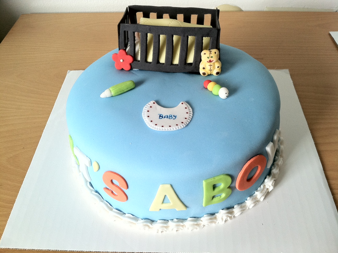 Baby shower cakes baby boy shower cake decorating ideas for Baby shower cake decoration idea