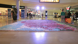 Cherry Blossom cupcake mosaic