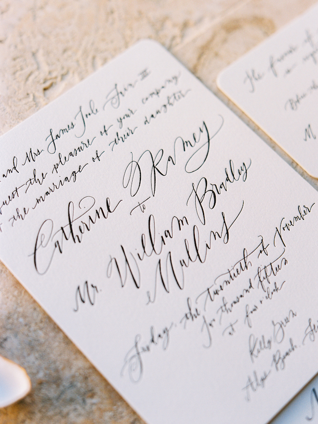 Wedding Invitation Custom Calligraphy