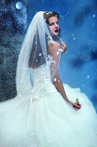 Official Disney Bridal Veils from Alfred Angelo - Snow White