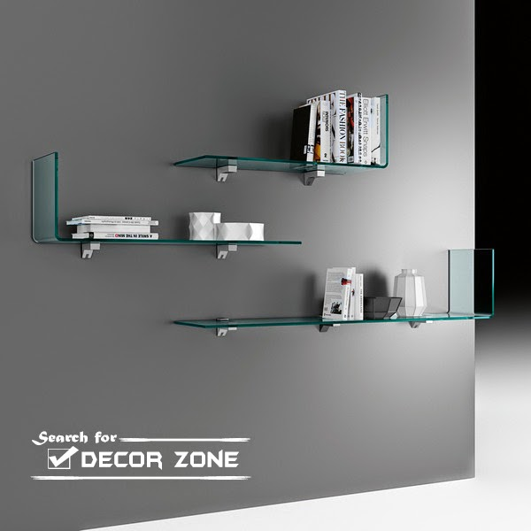 Glass Decoration For Wall : Glass bookshelves ideas in modern style