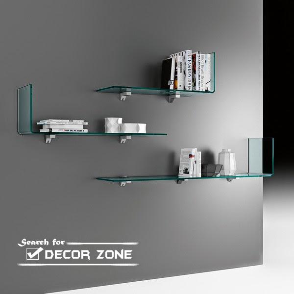 Wall Decor Glass Shelves : Glass bookshelves ideas in modern style
