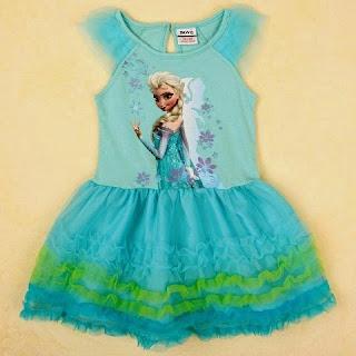 Tutu dress frozen elsa lucu untuk anak perempuan