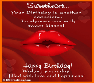 Free birthday greeting cards – Birthday Greetings to a Lover