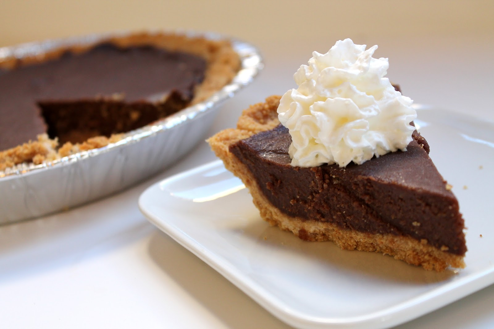 Real Chocolate Cream Pie - thestayathomechef.com