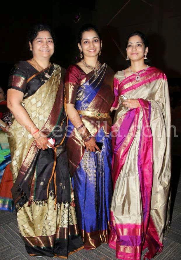 Guests in Kanchipuram Silk Saree