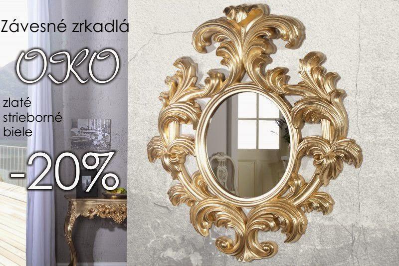 dizajnove zrkadla, velke zrkadla, okruhle zrkadla, zrkadla na stenu