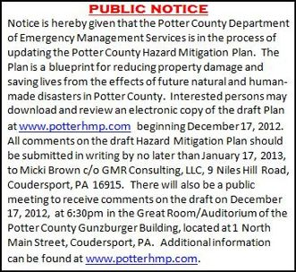 12-17 PUBLIC MEETING--HAZARD MITIGATION