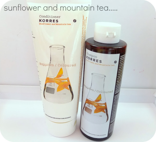 hair care sunflower and mountain tea
