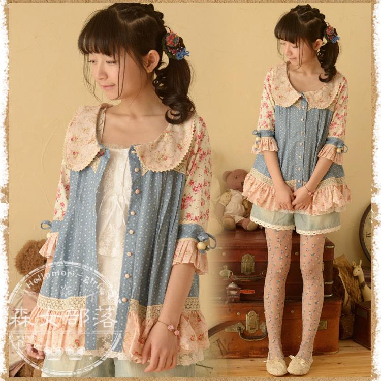 áo kiểu hoa phong cách mori girl