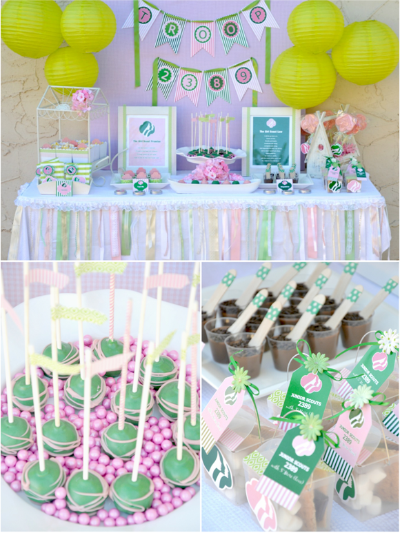 Girls Scout Party with FREE Printables | Party Ideas | Party ...