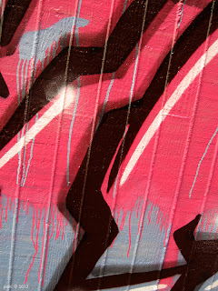topham wall street art gallery - pink drips