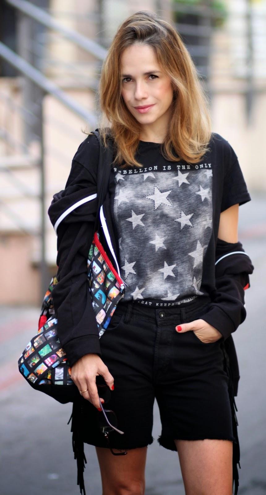 totalblack, eachxother, shorts, streetstyle, ss15, starsprint, fashionblog, blog, אופנה, בלוגאופנה, סטייל, בלוגריתאופנה, טלינחשון,