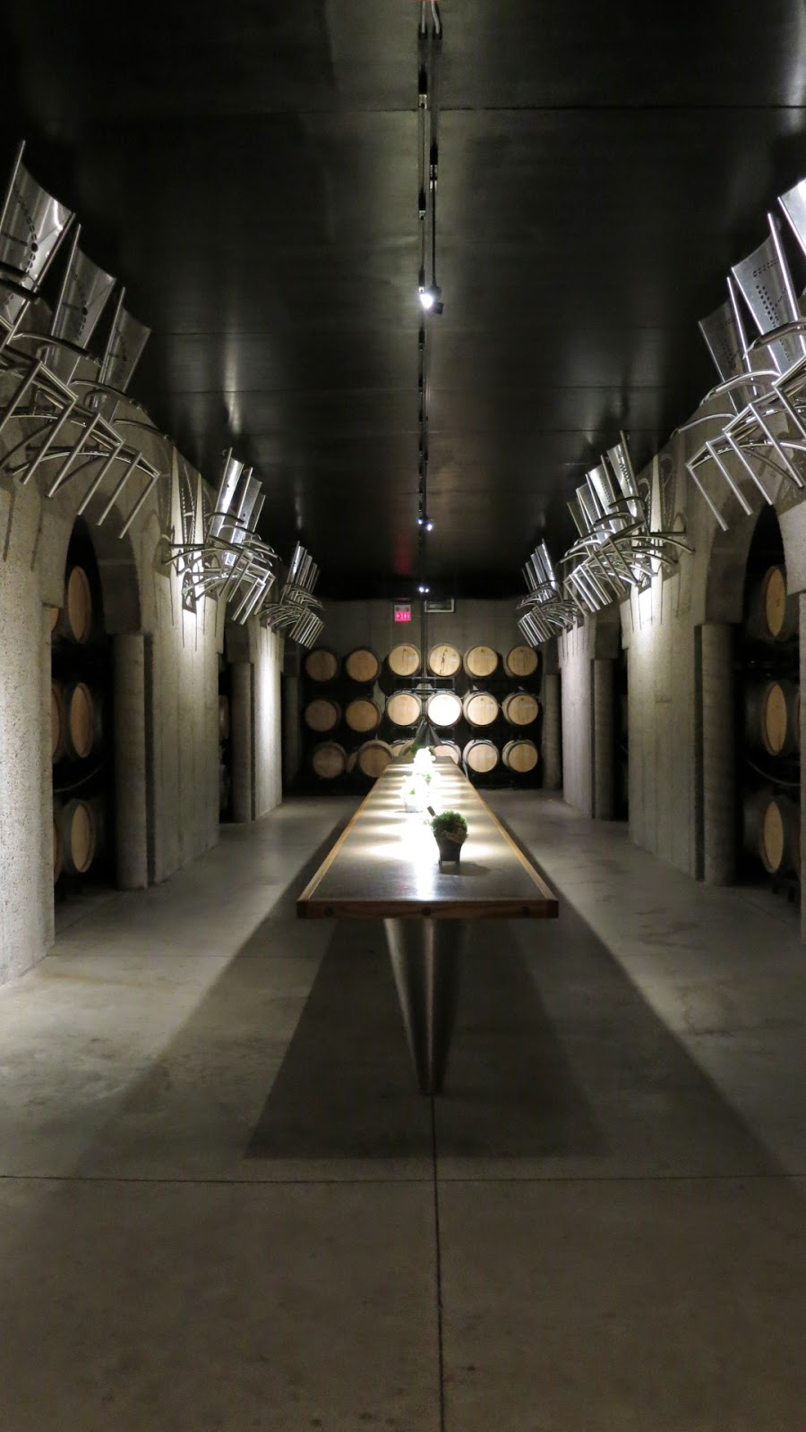 Barrel cellar at Pillitteri Estates Winery