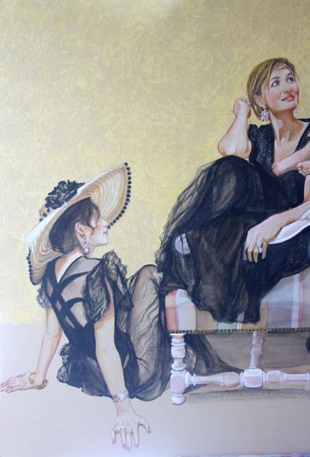 6 Mai - Portraits aquarellés sur carton