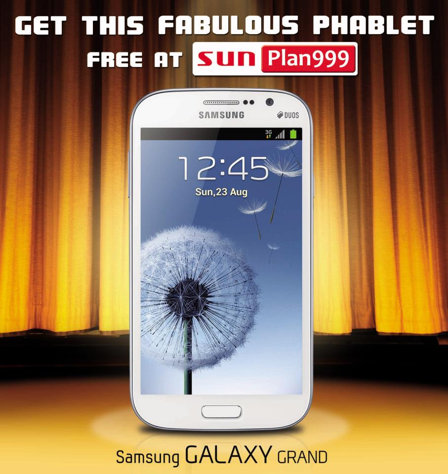 Samsung galaxy grand now available for free at sun for Sun mobile plan