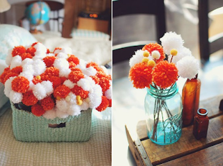 flores con pompones