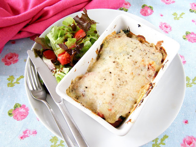 Vegan Stuffed Pasta Shell Lasagne