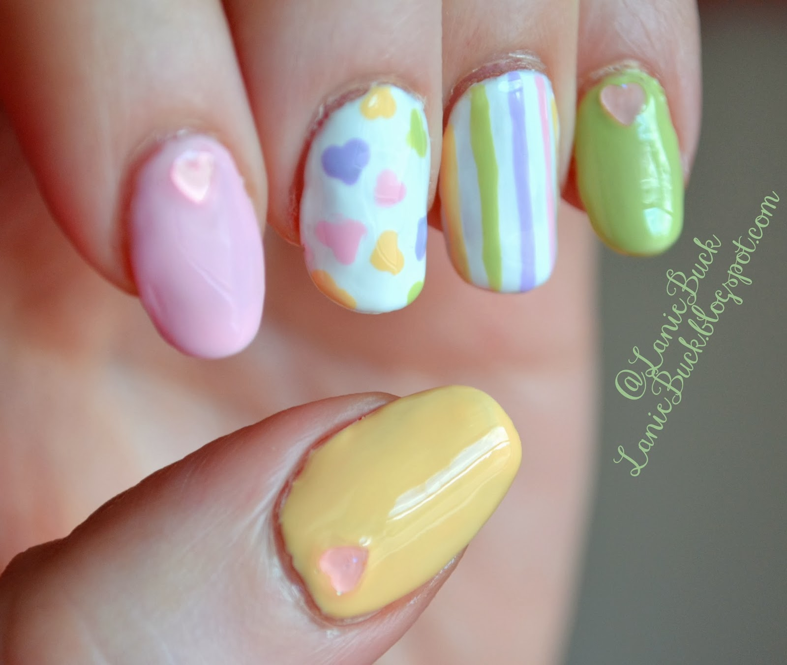 Inspired By Manicure Elleandishs Valentines Day Pastel Hearts Nails