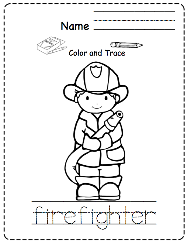 fireman coloring pages preschool shapes - photo#24