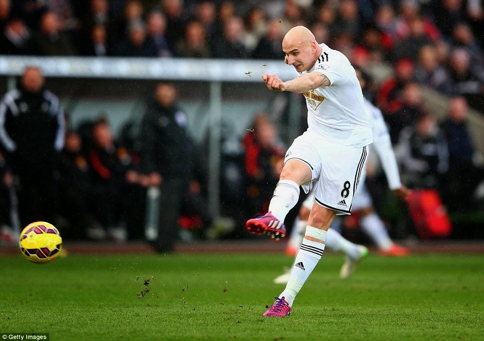 Swansea City Benamkan Manchester United