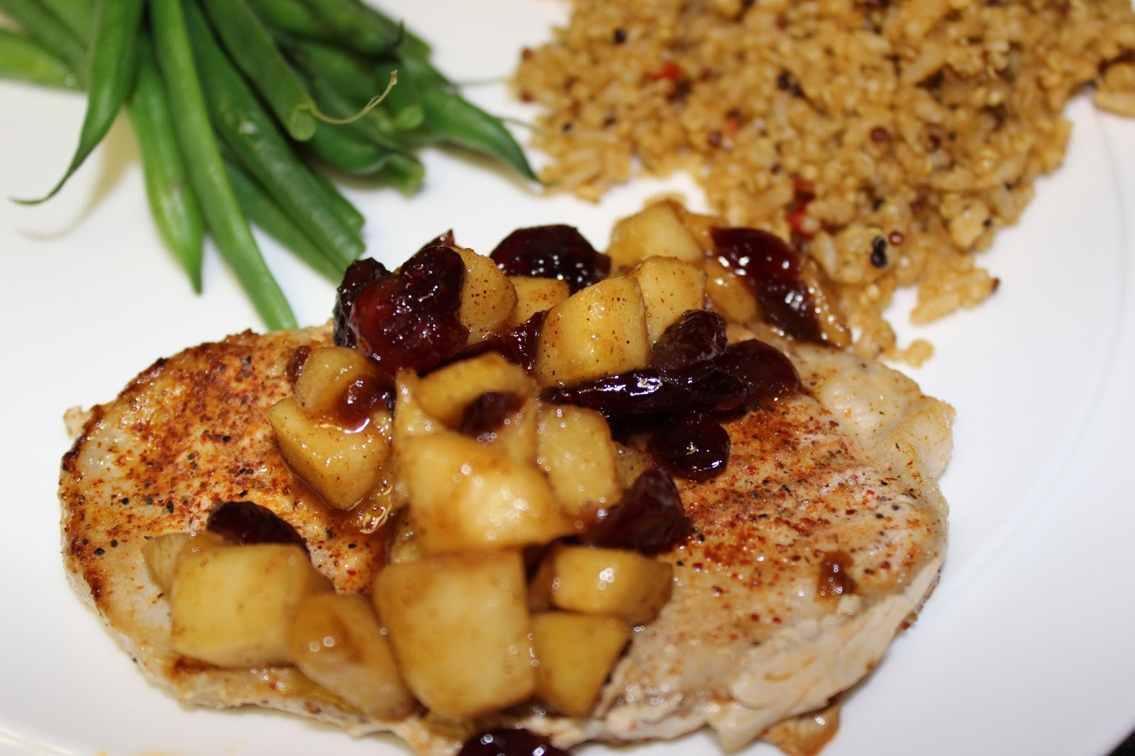 simply made with love: Spiced Pork Chops with Apple Chutney