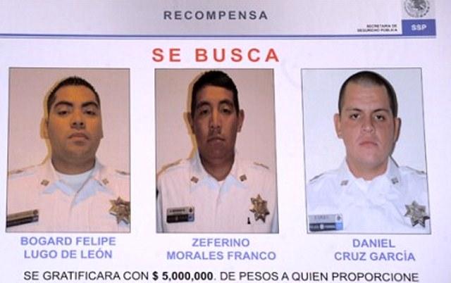 Ofrecen recompensa de 5 millones por policías prófugos