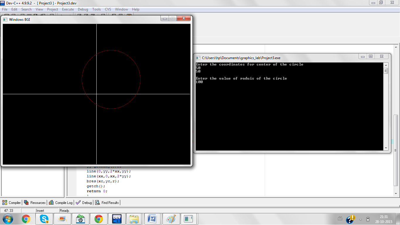 Implementation Of Line Drawing Algorithm : Computer graphics lab manual c programs
