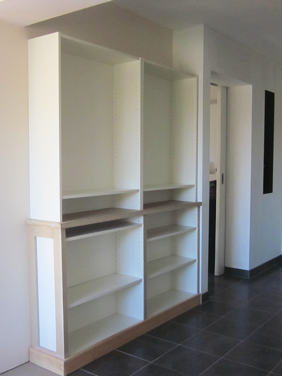 Biblioth que hack ik a billy au 303 home deco - Bibliotheque ikea bois ...