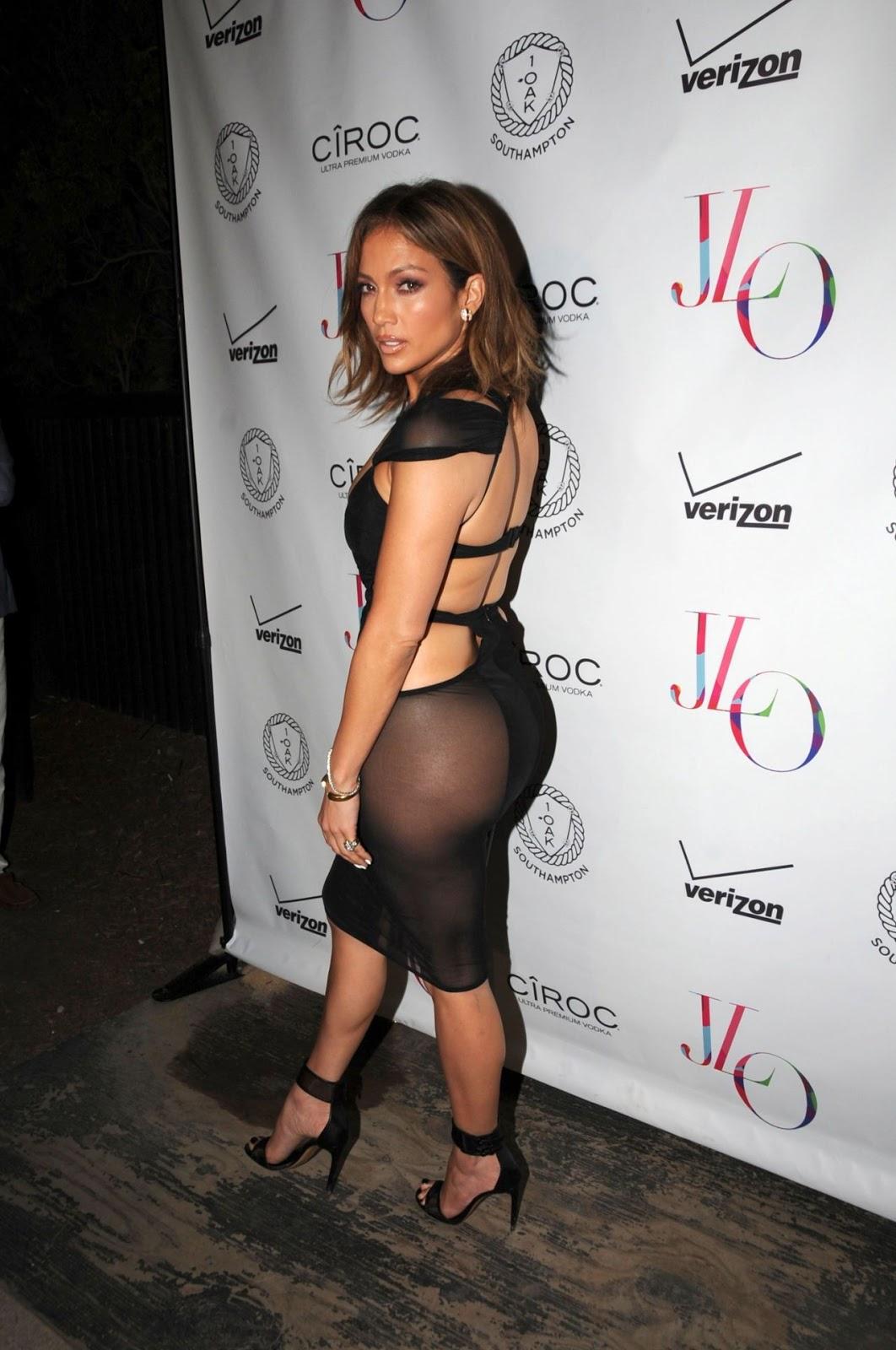 Jennifer Lopez flaunts derrière in sheer dress for 46th Birthday Celebrations