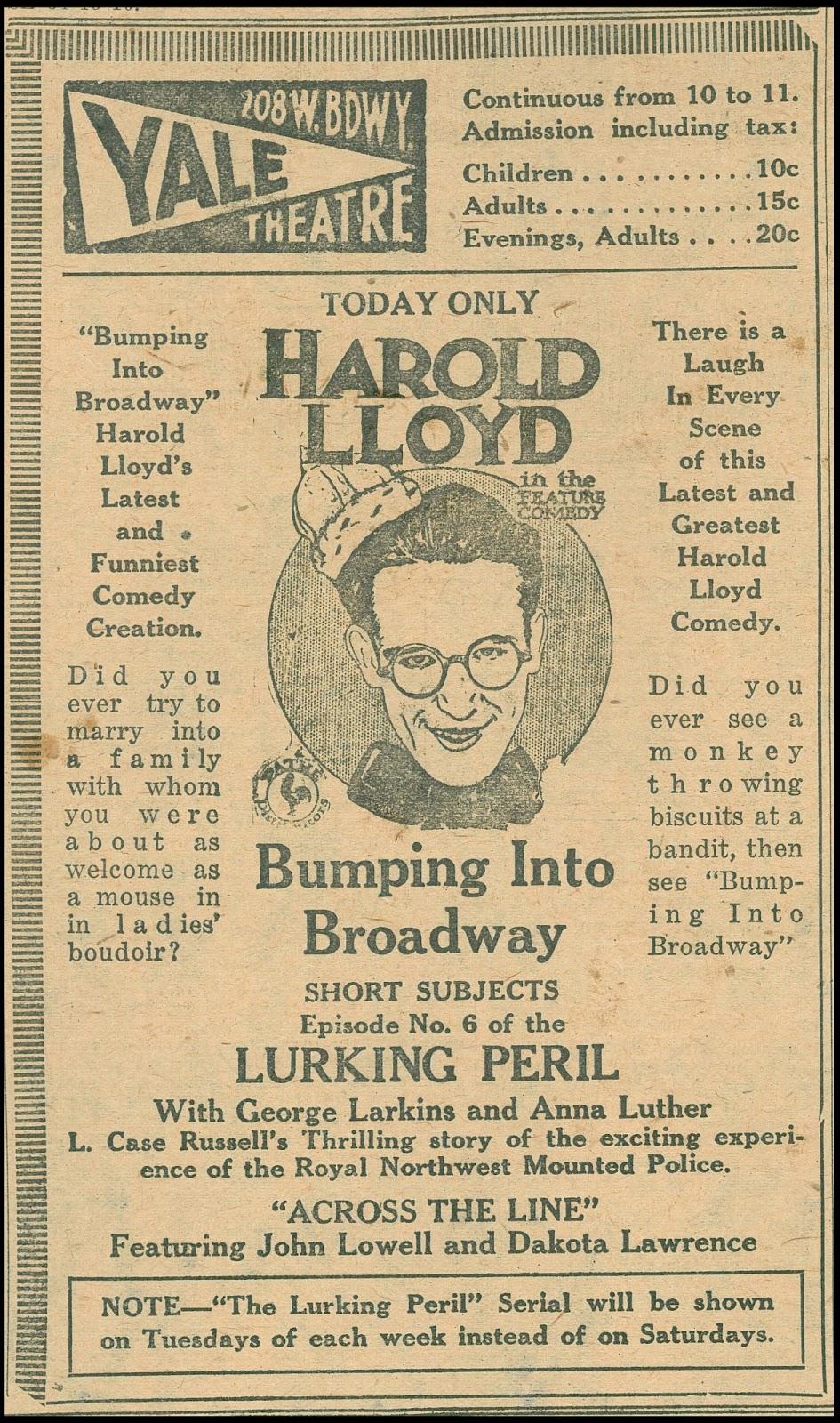 Harold Lloyd - Hacia Broadway | 1919 | Mega-Uptobox