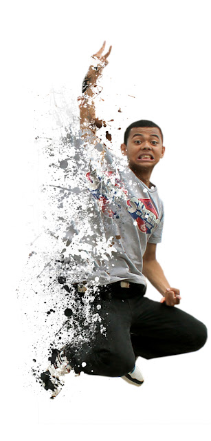 destorasi3 Membuat efek dispersion dengan brush Splatter di photoshop