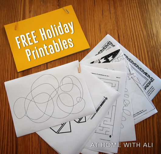 A list of free printables: perfect to occupy kids while travelling