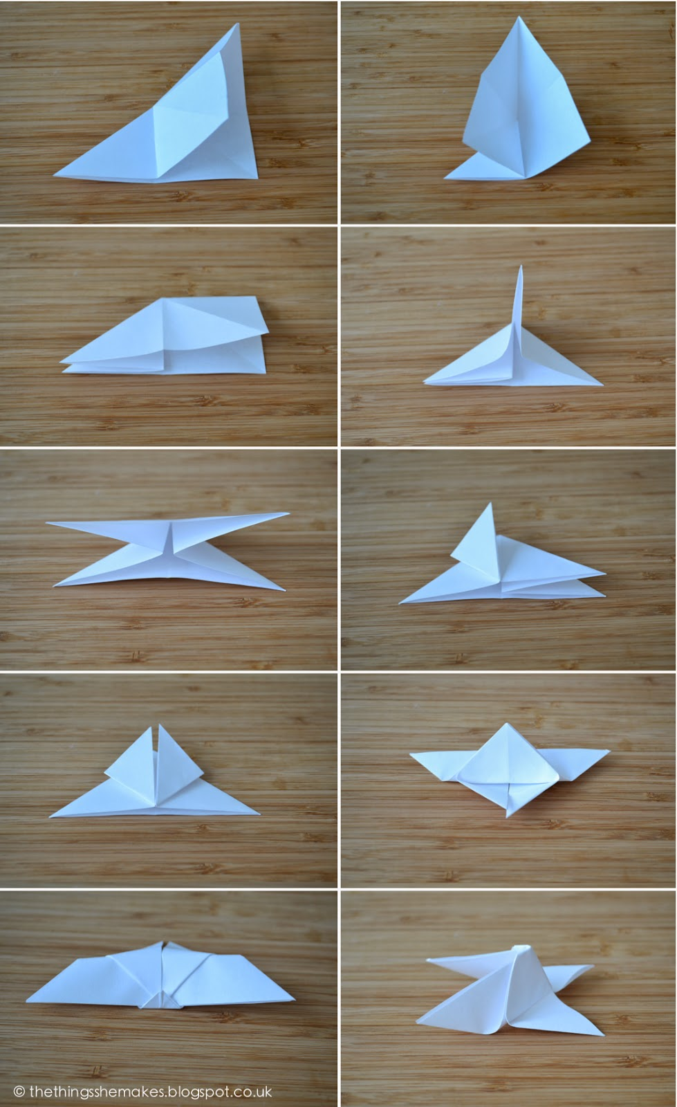 How to make origami butterflies the things she makes for Things to make with paper
