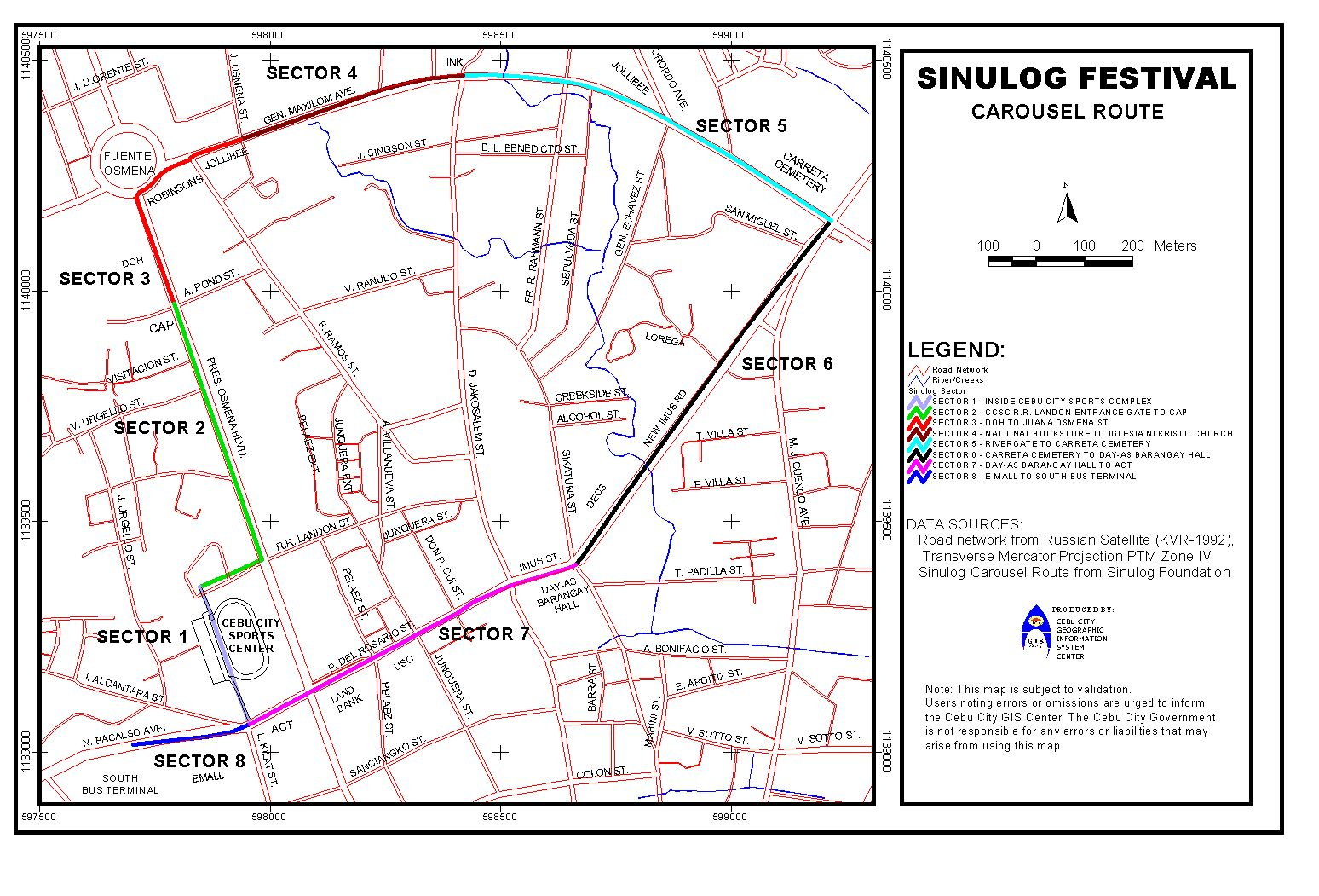 sinulog 2012 route