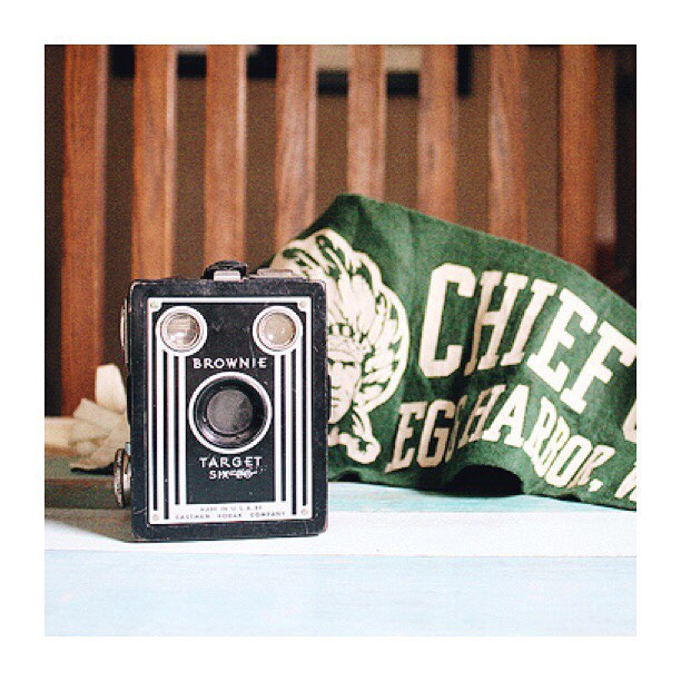 #thriftscorethursday Week 84 | Instagram user: robbrestyle shows off this Vintage Brownie Camera