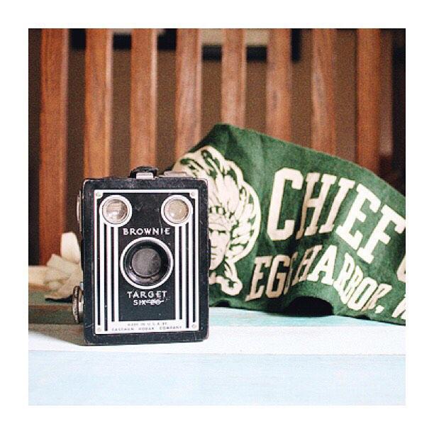 #thriftscorethursday Week 84   Instagram user: robbrestyle shows off this Vintage Brownie Camera