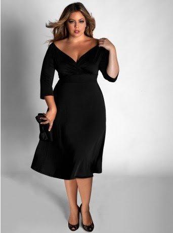vestido preto para gordinha