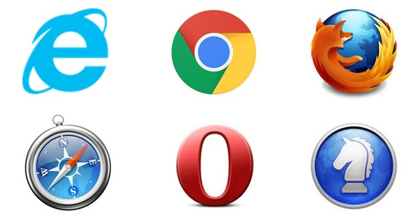 IE、Chrome、Firefox、Safari、Opera、Sleipnir