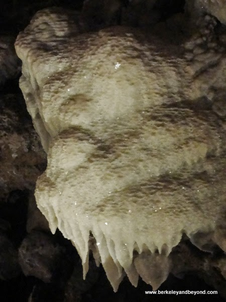 flow-stone at Black Chasm Cavern in Volcano, California