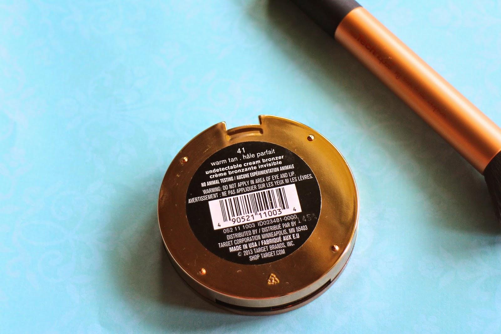 Swatch Sonia Kashuk Undetectable Creme Bronzer