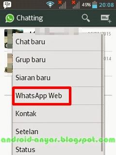 WhatsApp Web di Android